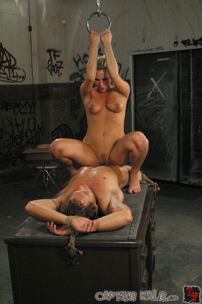 Captive man femdom