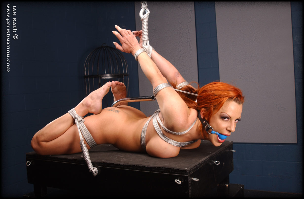 Consider, Bdsm redhead on rack something also