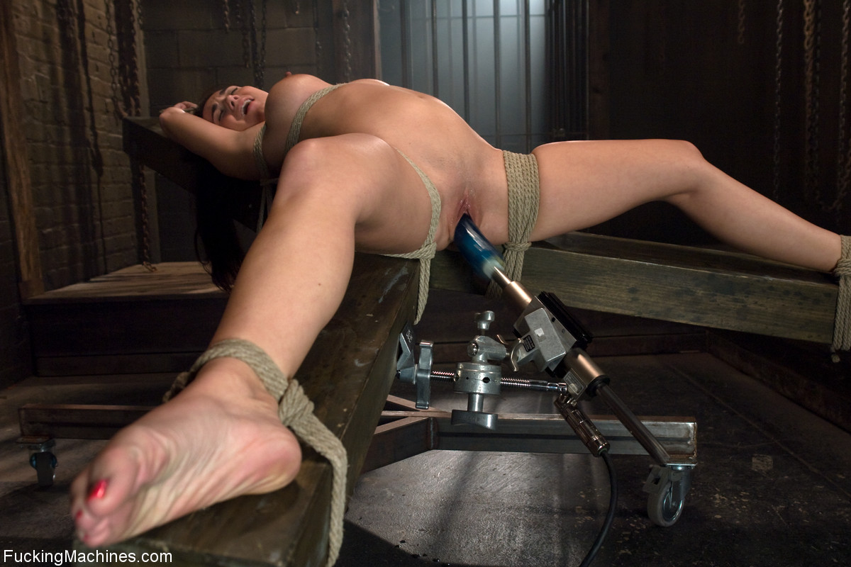 Fucking machine bondage
