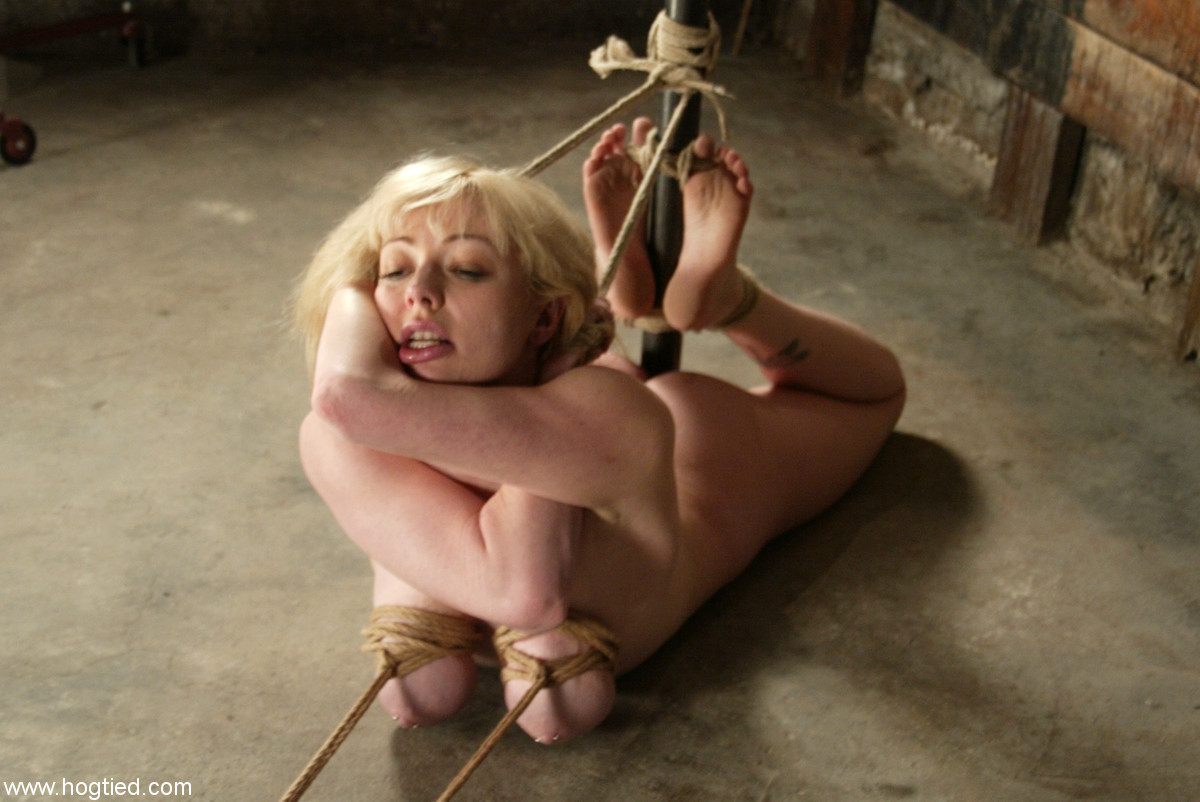 image Tied in ropes slave fulfilling dominators pleasures