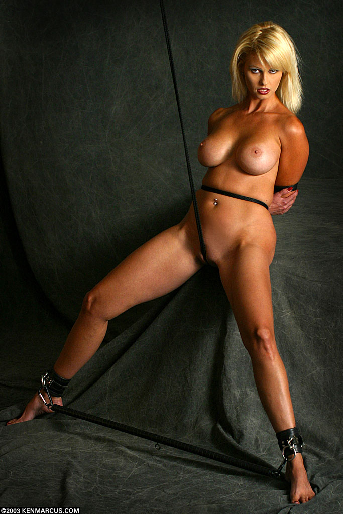 Bound slave dominated with toy by master 9